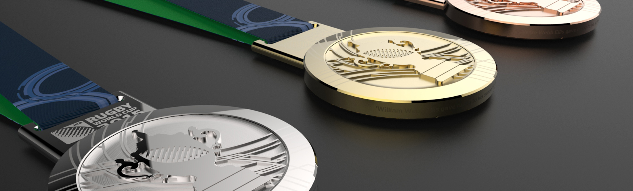 Rugby World Cup England 2015 Finalists' medals