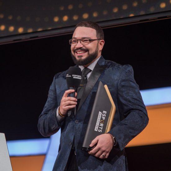 Man accepting Award